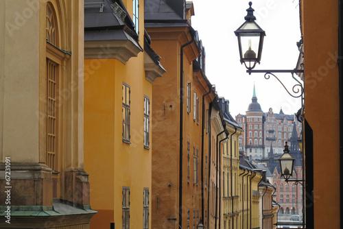 Staande foto Stockholm yellow stockholm
