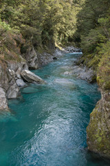 A New Zealand stream runs through a gorge