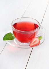 Cup of strawberry tea