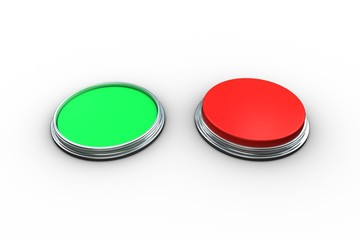 Red and green push buttons