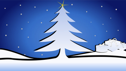 Vector format of cimple Christmass background