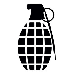 Grenade isolated on white background, vector