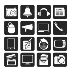 Silhouette Communication and media icons