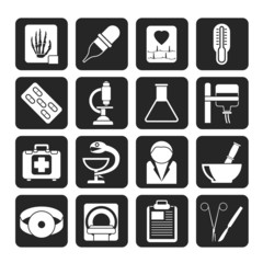 Silhouette Healthcare and Medicine icons