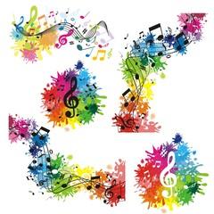 bunte musikalische Hintergründe