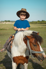 Boy with pony