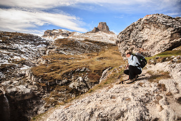 Hiking in Dolomite