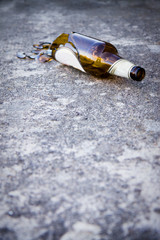 Man experiencing some problems with alcohol - conceptual shot