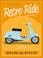 Retro Scooter Poster Design