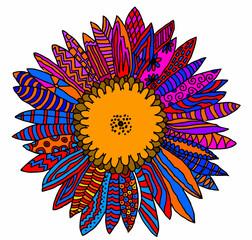 girasole multicolore