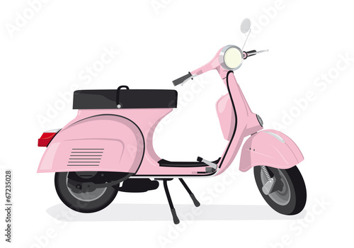 Pink Scooter Vector Illustration - 67235028