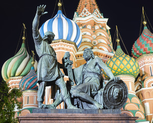 Monument to Minin and Pozharsky on Red Square, Moscow, Russia