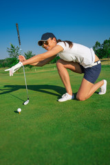 Woman golf player