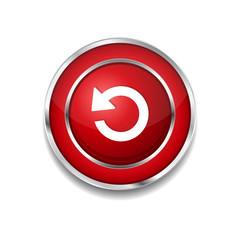 Reset Circular Vector Red Web Icon Button