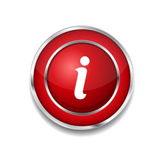 Info Circular Vector Red Web Icon Button