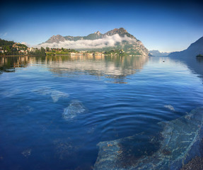 Morning on Lake Lecco. Lecco