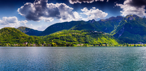 View of Lake Lugano, Switzerland