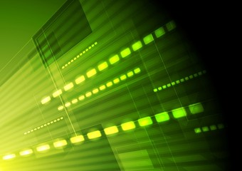 Green hi-tech vector motion background
