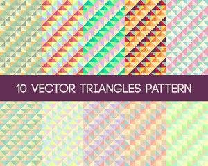 10 Vector Triangles Pattern