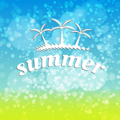 Summer travel typographic design, easy all editable