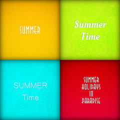 Brochure summer template set, easy all editable