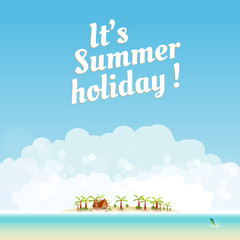 Summer background design, you cen easy all editable