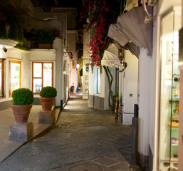 Night view of street in Capri