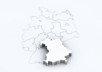 Bundesland: Bayern / detailreich