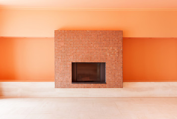 Interior home, fireplace