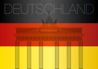 Germany flag and Brandenburg Gate