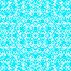 Teal and White Circles Tiles Pattern Repeat Background