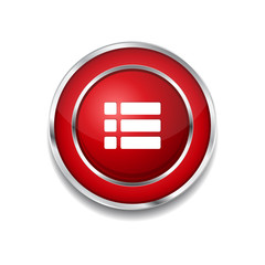 Options Circular Vector Red Web Icon Button