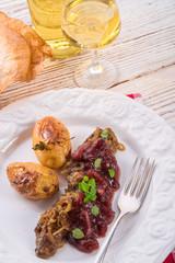 roasted liver with bake potato