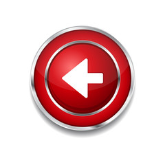 Left Key Circular Vector Red Web Icon Button