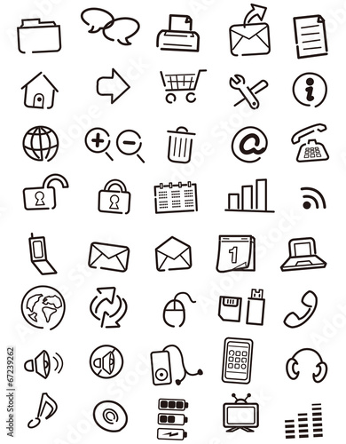 Web icons, buttons, note Vector