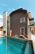 canvas print picture - House, swimming pool