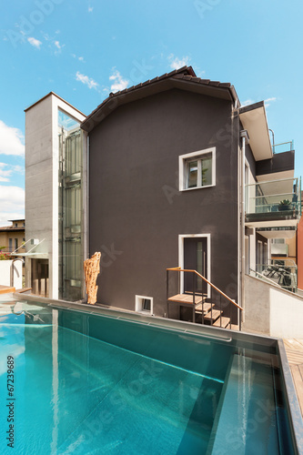canvas print picture House, swimming pool