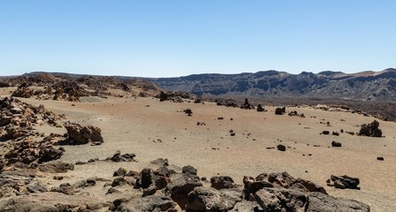 The deserted side of Teide volcano in Tenerife