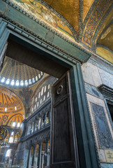 Interior of Hagia Sophia in Istanbul, Turkey - greatest monument