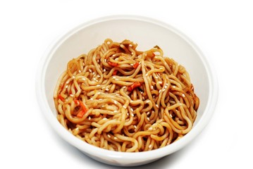 Oriental Noodles with Soy Sauce and Sesame Seeds