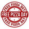 Free pizza day stamp