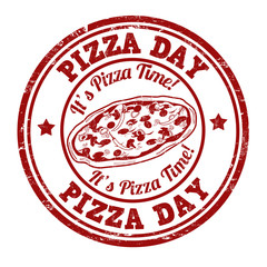 Pizza day stamp
