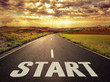 Leinwandbild Motiv Concept of way to successful future
