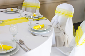 wedding or restaurant table set