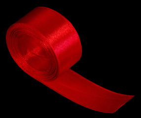 Roll red ribbon