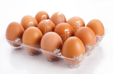 eggs in plastic blister
