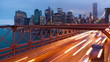 Brooklyn bridge car traffic light timelapse - New York - USA