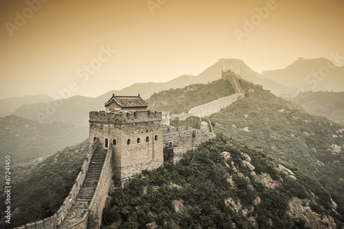 Tuinposter Chinese Muur Great Wall of China at Jinshanling Section