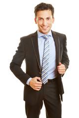 Bewerbungsfoto von einem dynamischen Geschäftsmann