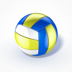 volleyball on white background